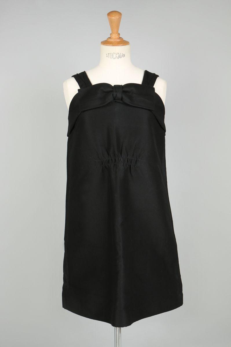 Front gather black dress (MA34FA025) Muveil(ミュベール)