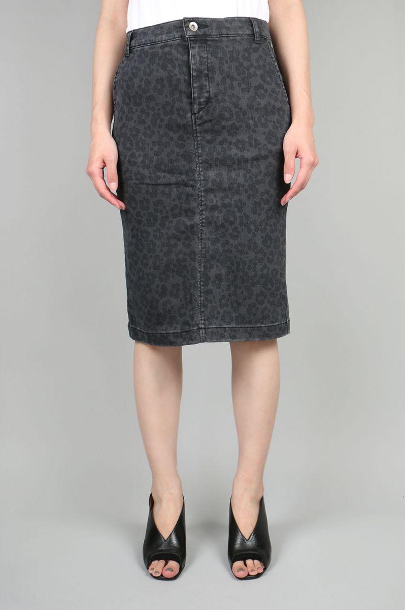 Leopard Tight Skirt (MA42FS008) Muveil(ミュベール)