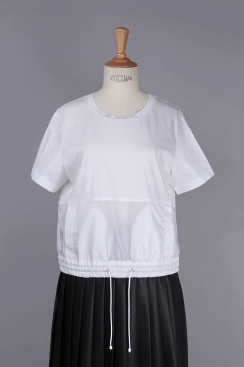 【40%OFF】Taffeta docking T-shirt (MA44UTS008) Muveil(ミュベール)