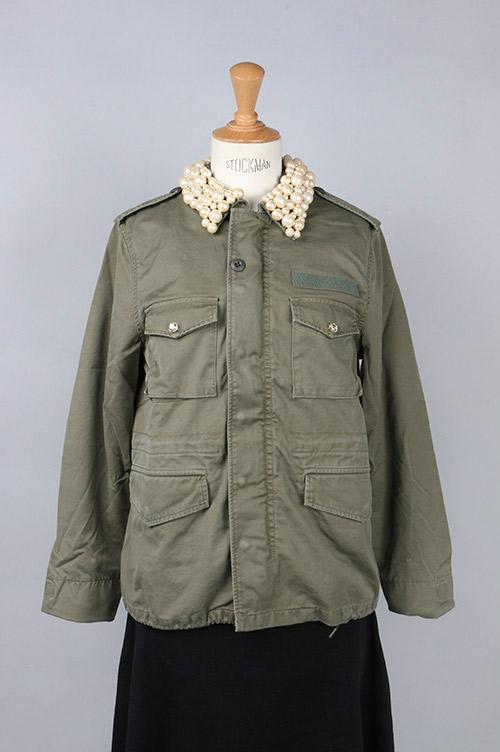 【70%OFF】Collar pearl field jacket(M65 1001-PC) Tu es mon TRESOR(トゥ エ モン トレゾア)