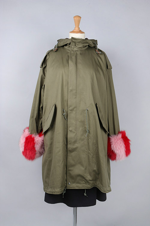 【70%OFF】Fur cuffs fishtail parker(M51 8001-FUR) Tu es mon TRESOR(トゥ エ モン トレゾア)