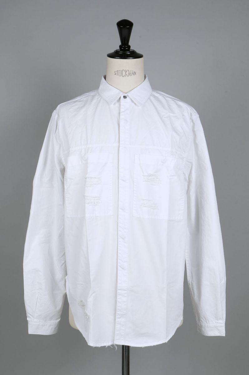 Distressed Against Denim Shirt(SLA-M1258BD) STAMPD(スタンプド)