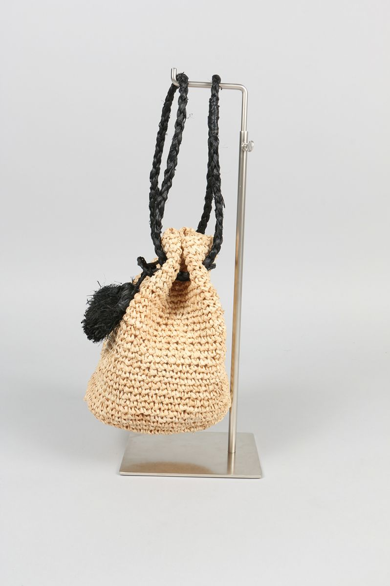 Raffia Drawstring Pouch(EOX7700)LI HUA(利·毛皮)