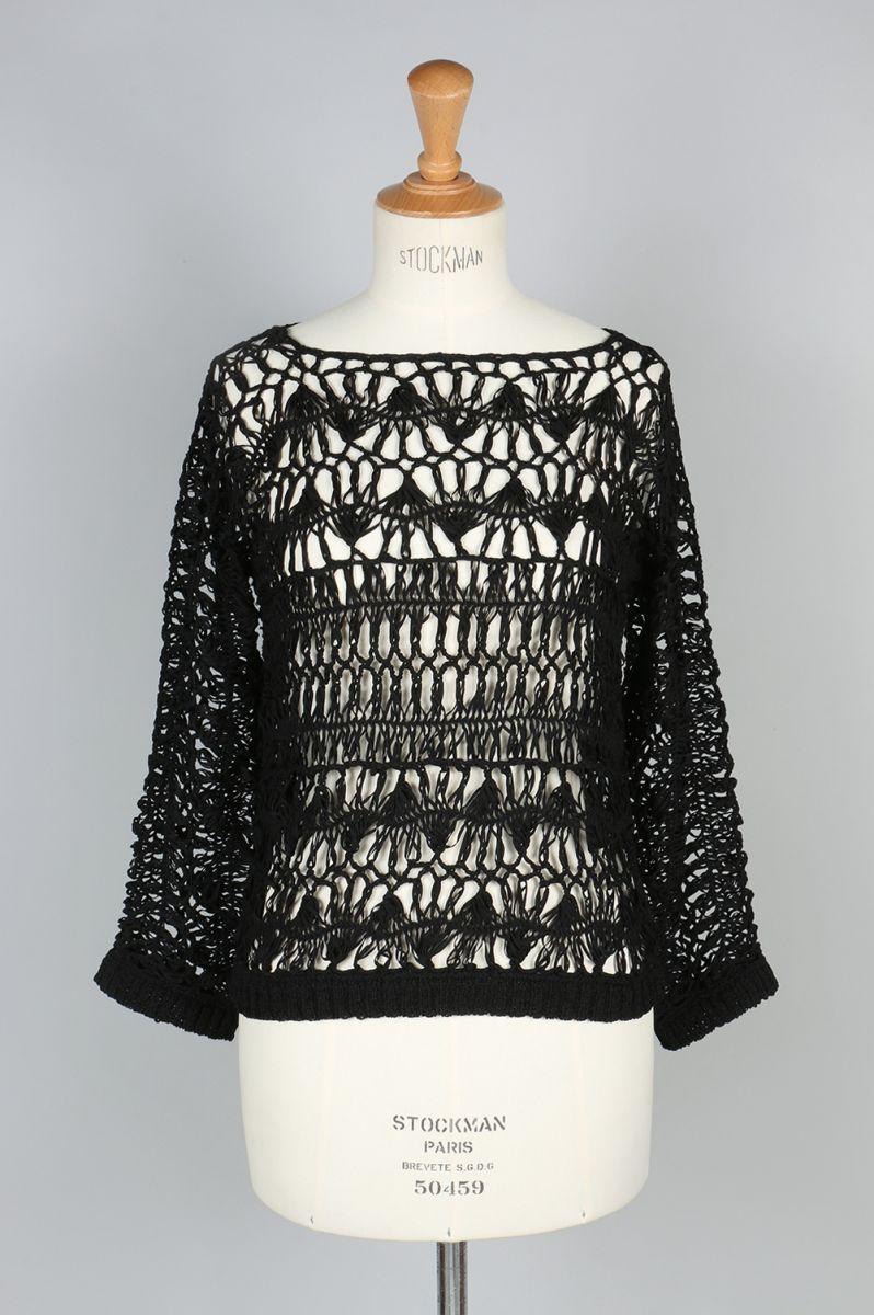 Crochet Loose Knit -BLACK(11710531) Todayful(トゥデイフル)