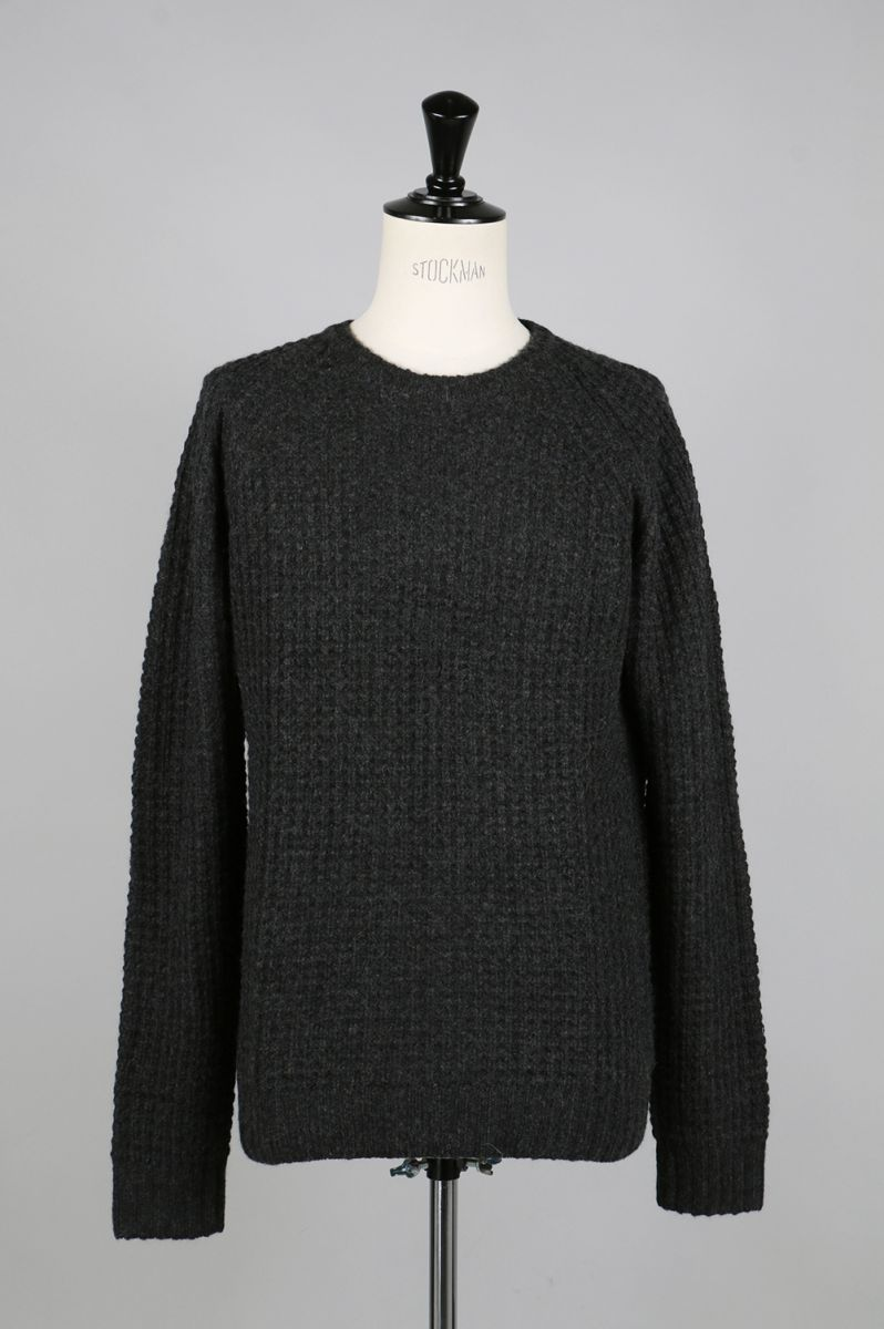 【50%OFF】Miguel Waffle Knit Sweater - BLACK SATURDAYS NYC(サタデーズ・ニューヨークシティ)