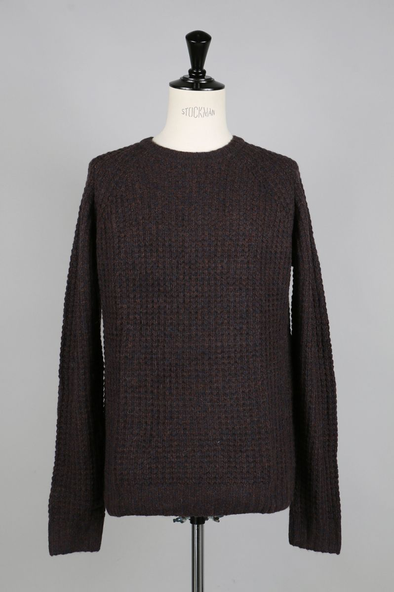 【50%OFF】Miguel Waffle Knit Sweater - MIDNIGHT/BRONZE SATURDAYS NYC(サタデーズ・ニューヨークシティ)