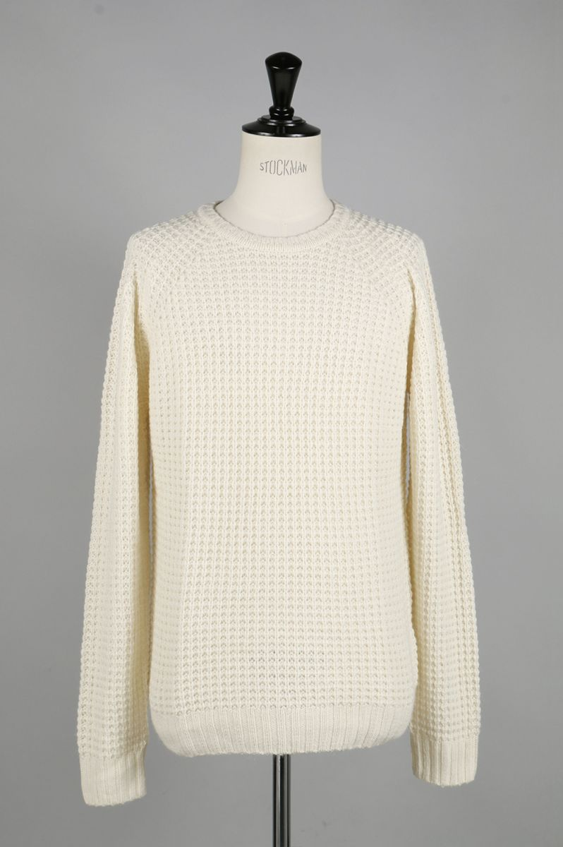 【40%OFF】Miguel Waffle Knit Sweater - IVORY SATURDAYS NYC(サタデーズ・ニューヨークシティ)