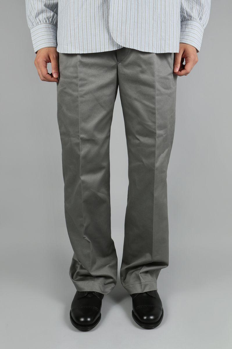 Cotton Twill Baggy Chinos - GREY (5117-83522) SCYE BASICS -Men-(サイ・ベーシックス)