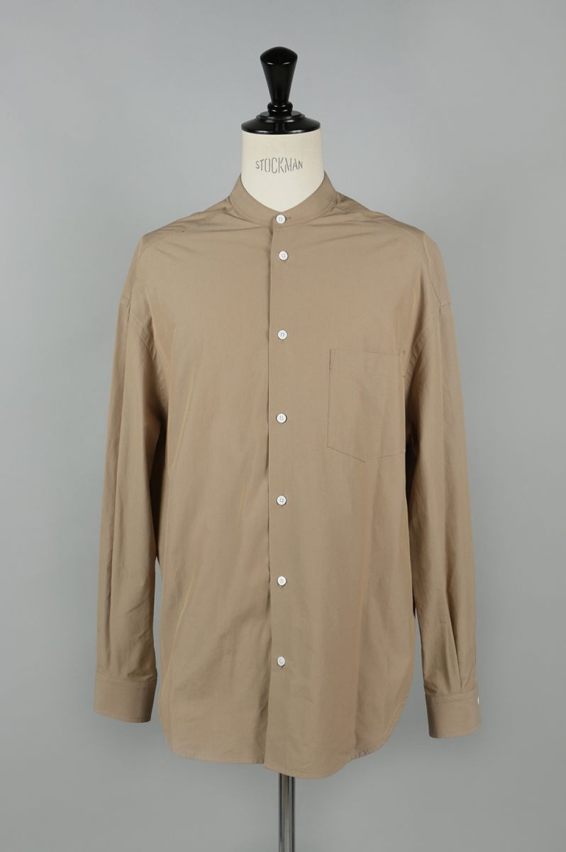 Cotton Poplin Oversized Band Collar Shirt - BEIGE (1117-33005) SCYE BASICS -Men-(サイ・ベーシックス)