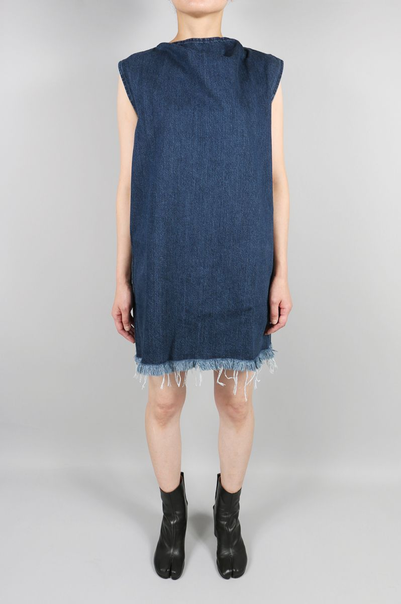 【50%OFF】Denim Rectangle Mini Dress With Zip (AW17DR0031DNM) MARQUES' ALMEIDA(マルケス・アルメイダ)