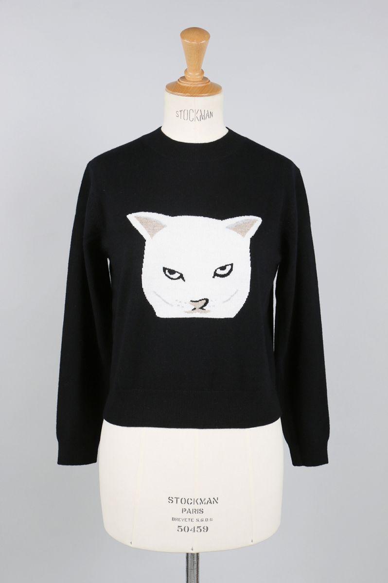 12G Cat Intarsia Knit Pullover(EOM7715) Li Hua(リー・ファー)
