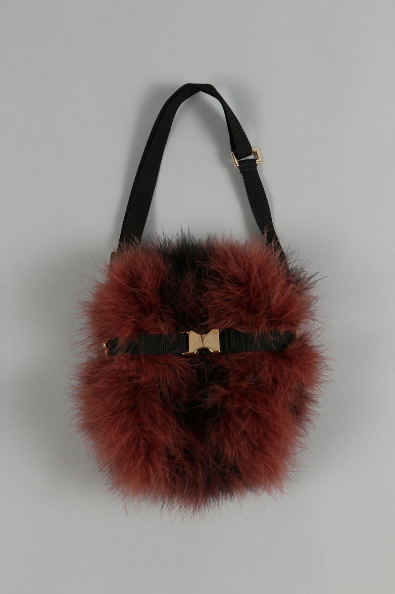 Feather Waist Bag-BROWN×BLACK(LD-1709) LUDLOW(ラドロー)