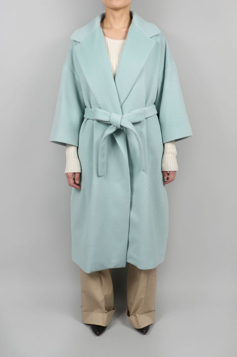 Wool cashmere Wrapcoat-Green(08R-FAJK-05C) BLUEBIRD BOULEVARD(ブルーバード・ブルバード)