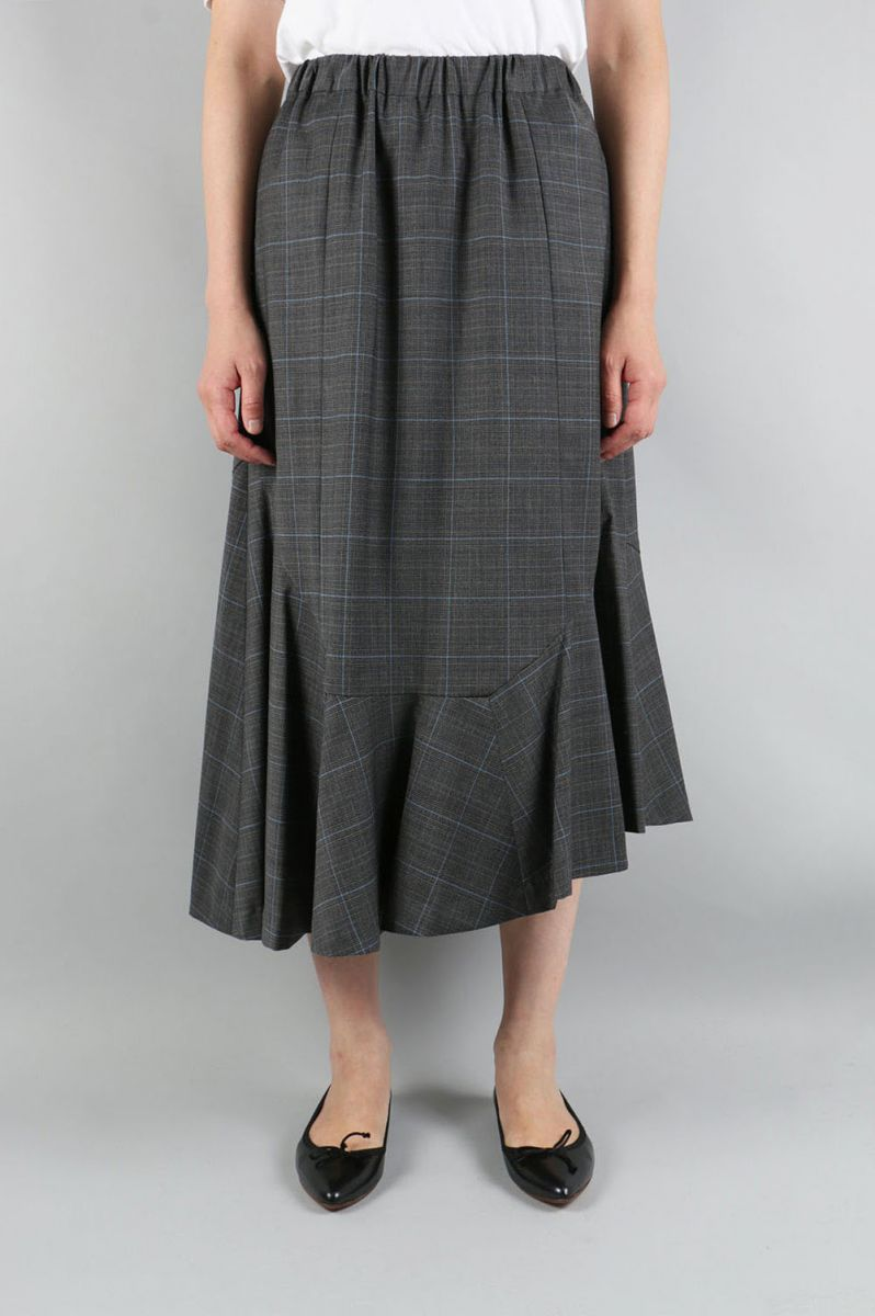 【50%OFF】Glen Check Assymetry Skirt (1705F03003) Florent(フローレント)