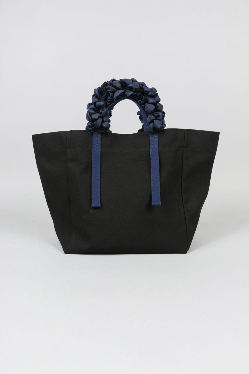 【Limited】GRAPE HANDLE BAG PLAIN -BLACK- Ludlow(ラドロー)