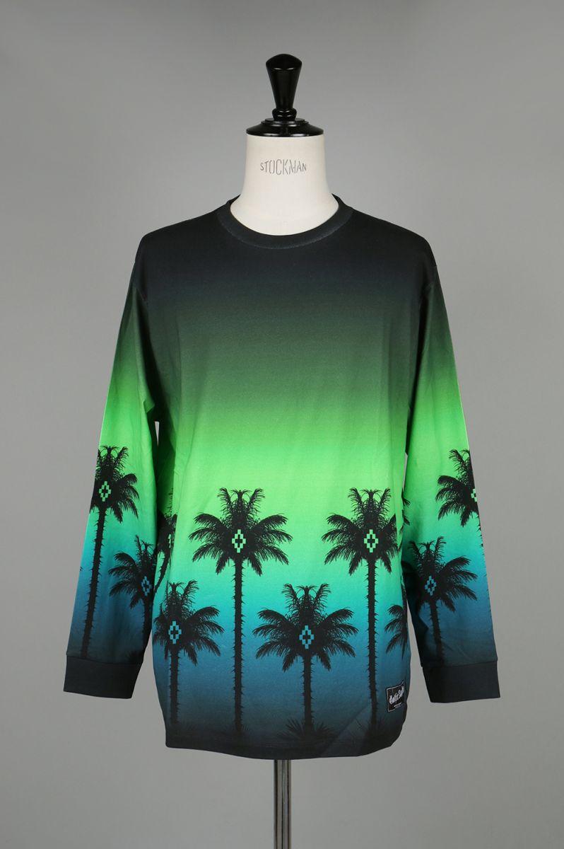 【60%OFF】緑 PALM T-SHIRT L/S(CMAB007S186740378800) Marcelo Burlon(マルセロ・ブロン)