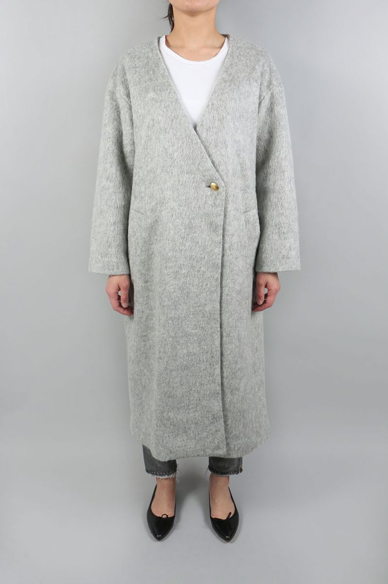 Sliver Knit Coat-GRAY-(11720008) Todayful(トゥデイフル)