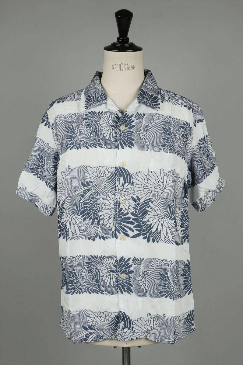 indigo aloha opencolor shirt (RN1822 9081) Remi Relief -Men-(レミ・レリーフ)