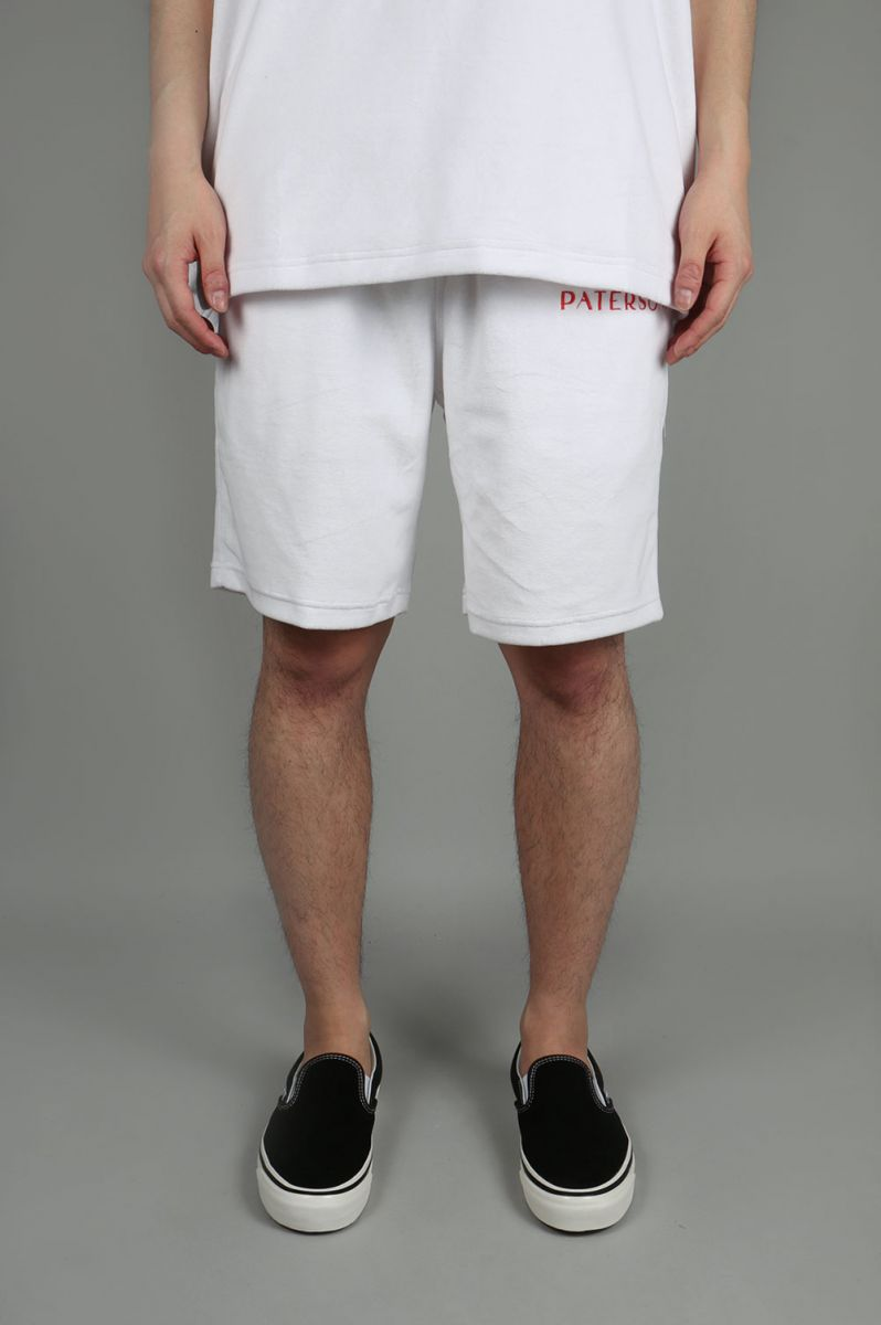 LINE WEIGHT SHORT (PAT-SS18-SHORT01-WHITE) Paterson(パターソン)