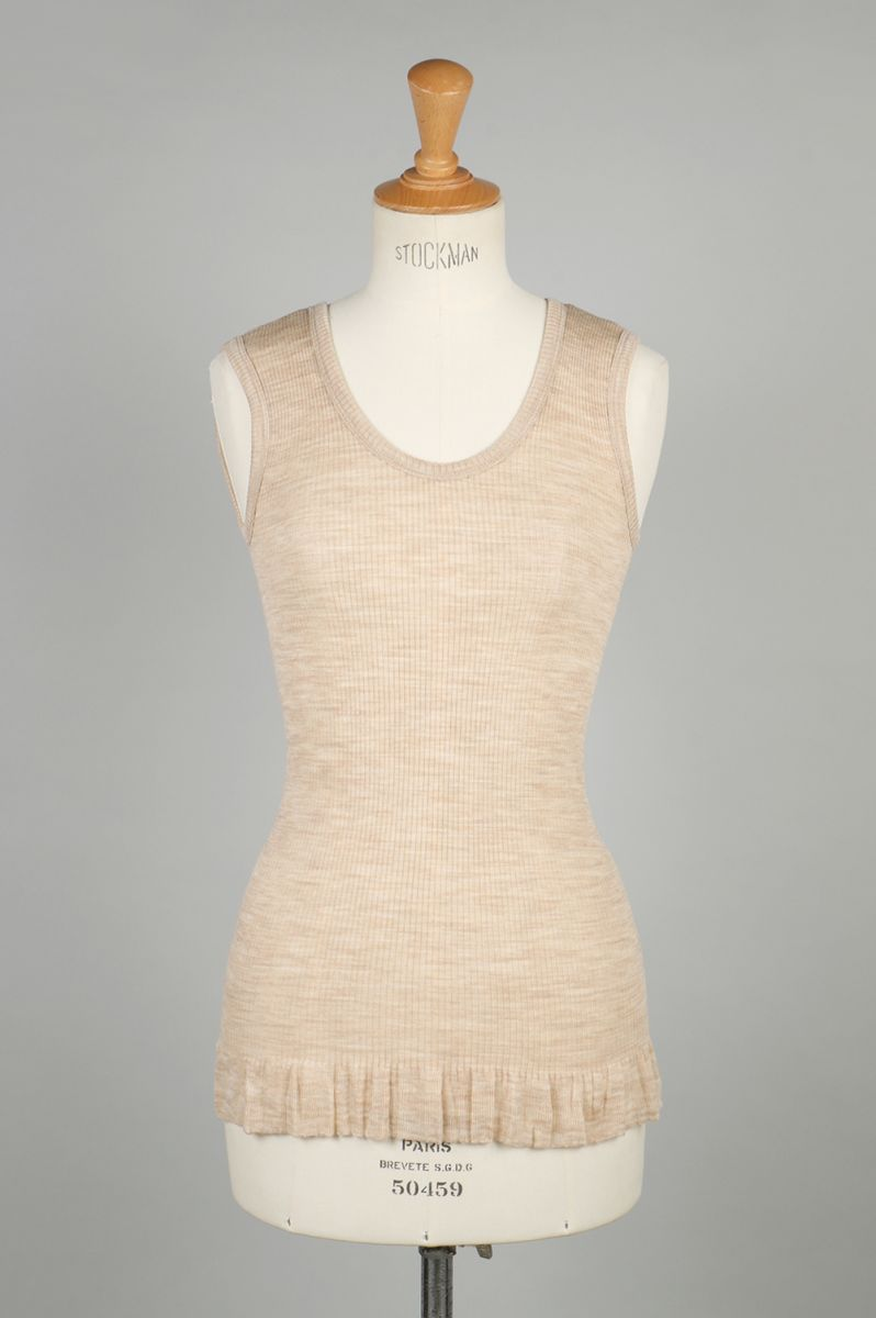 【20%OFF】wool fine ribbed tank-top-beige-(BA01-LI57) babaco(ババコ)