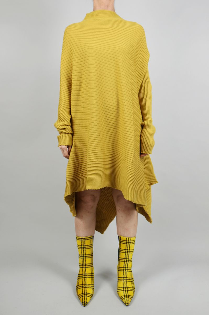 【40%OFF】SHORT DRAPED DRESS -Mustard (AW18KN0007LWK) Marques' Almeida(マルケス・アルメイダ)