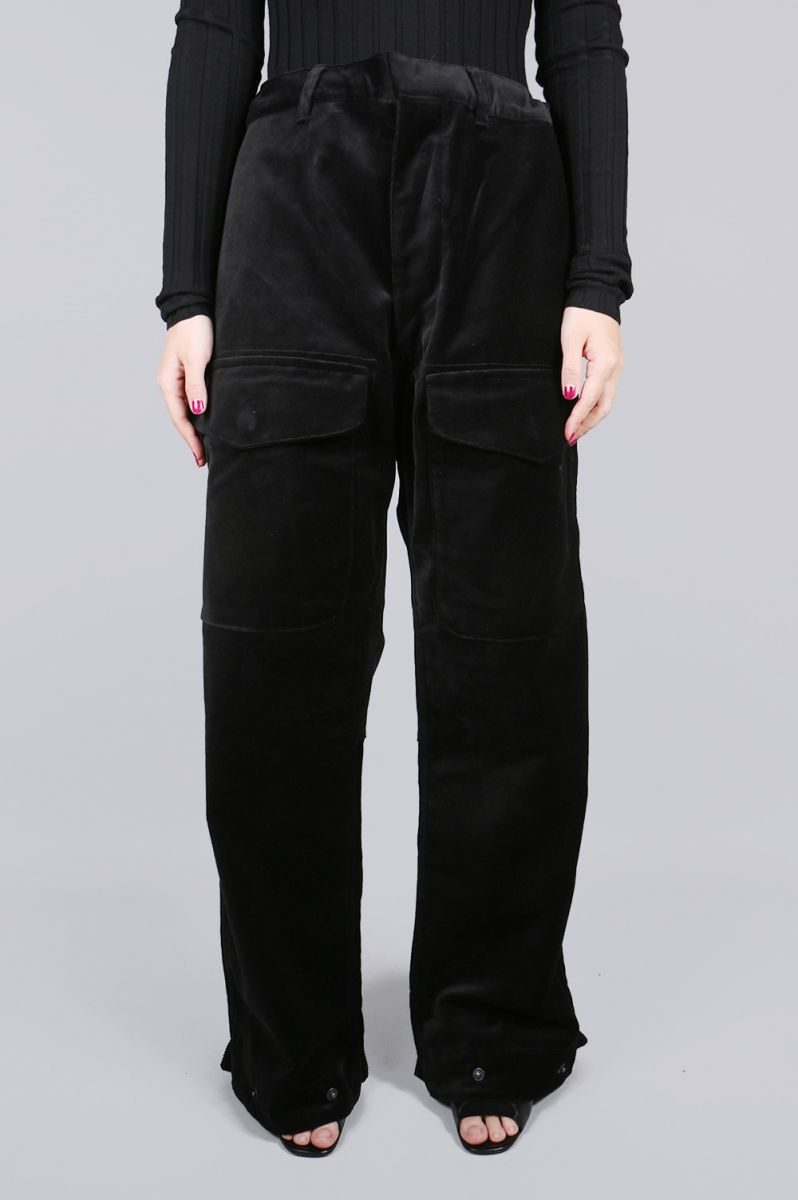 【40%OFF】Velvet Cargo Pants -Black Jun Mikami(ジュン・ミカミ)