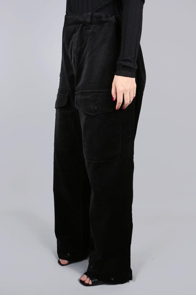 Deepinsideinc.Store  Velvet Cargo Pants -Black Jun Mikami (Jun ... 689947ccc07