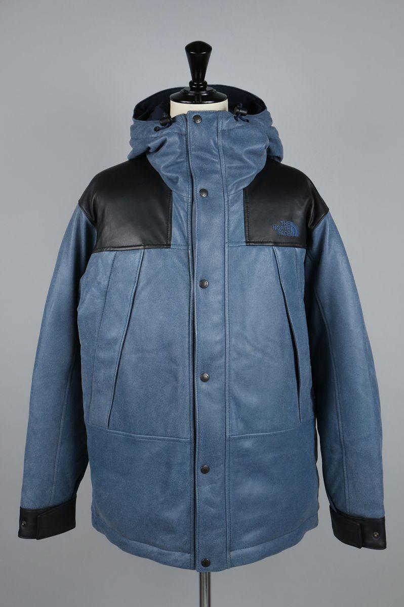 ノースフェイス パープルレーベル メンズ Mountain Down Leather Jacket (ND2867N) 【正規取扱店】