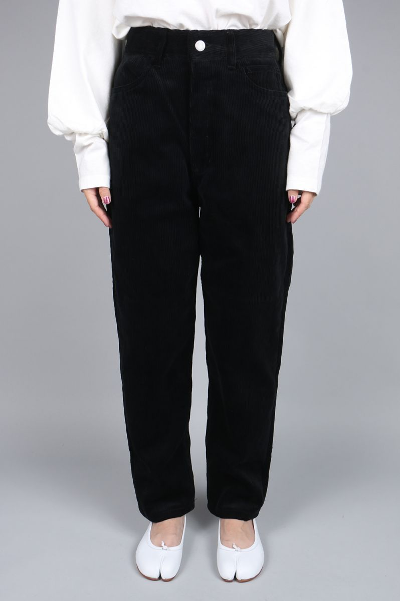 【40%OFF】TAPERED CORDUROY PANTS -BLACK (PT-603L CO) Jane Smith(ジェーン・スミス)