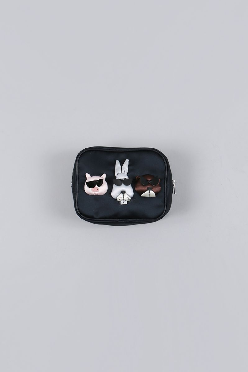 POUCH WITH TISSUE CASE-ANIMAL(LD-1931) Ludlow(ラドロー)