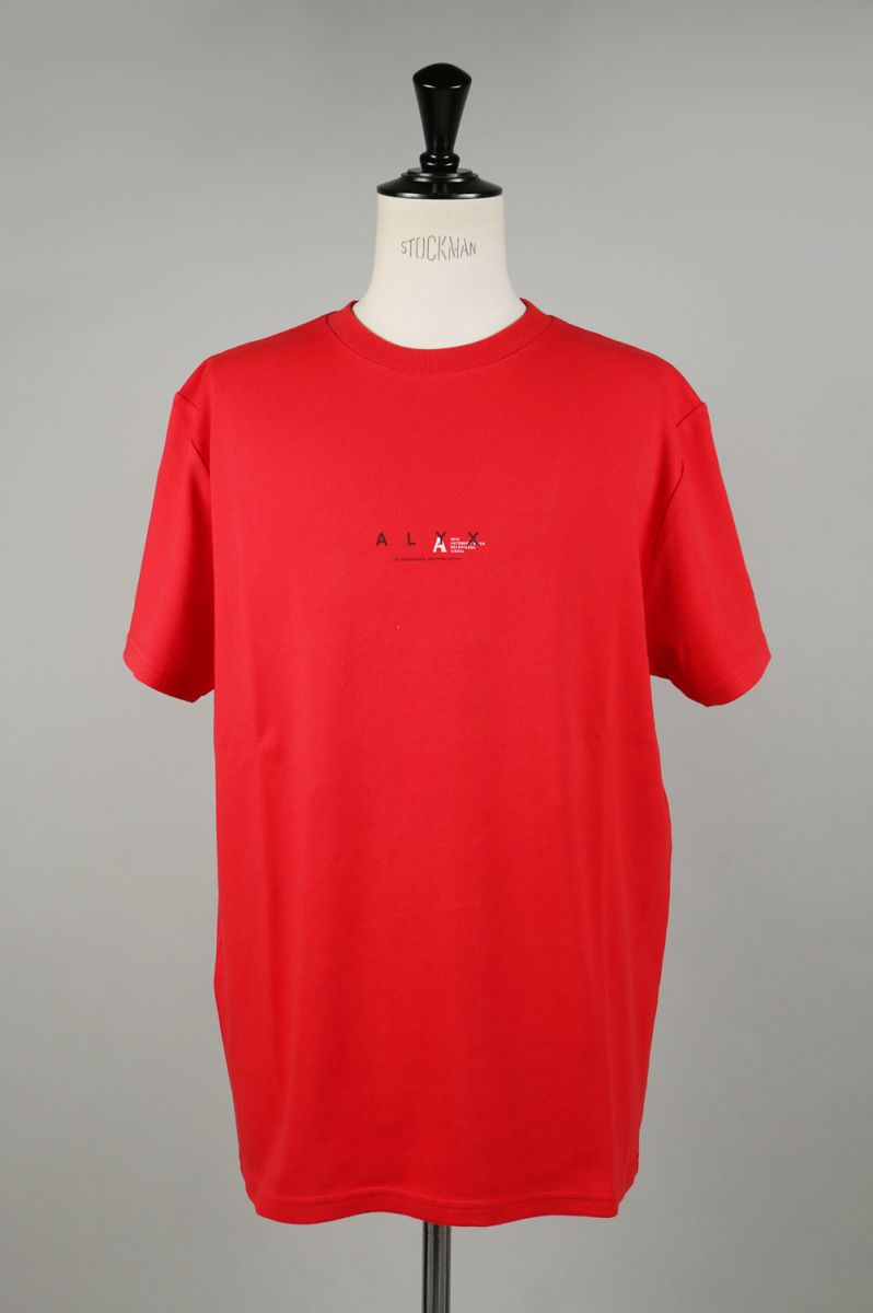 ALYX LOGO TEE/RED(AVMTS0009A033) Alyx(アリクス)