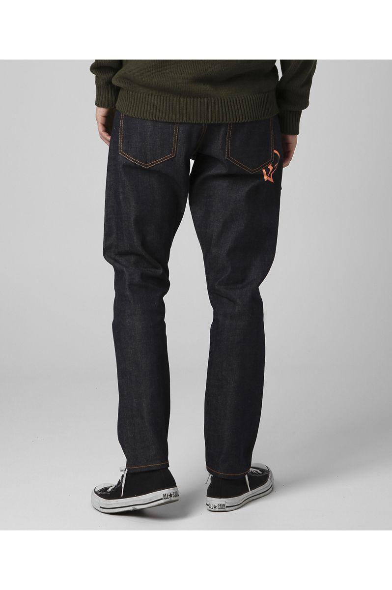 rigid tapered denim pants / ORANGE (VFP4050) Denim by Vanquish&Fragment(デニム・ バイ・ヴァンキッシュ・アンド・フラグメント)