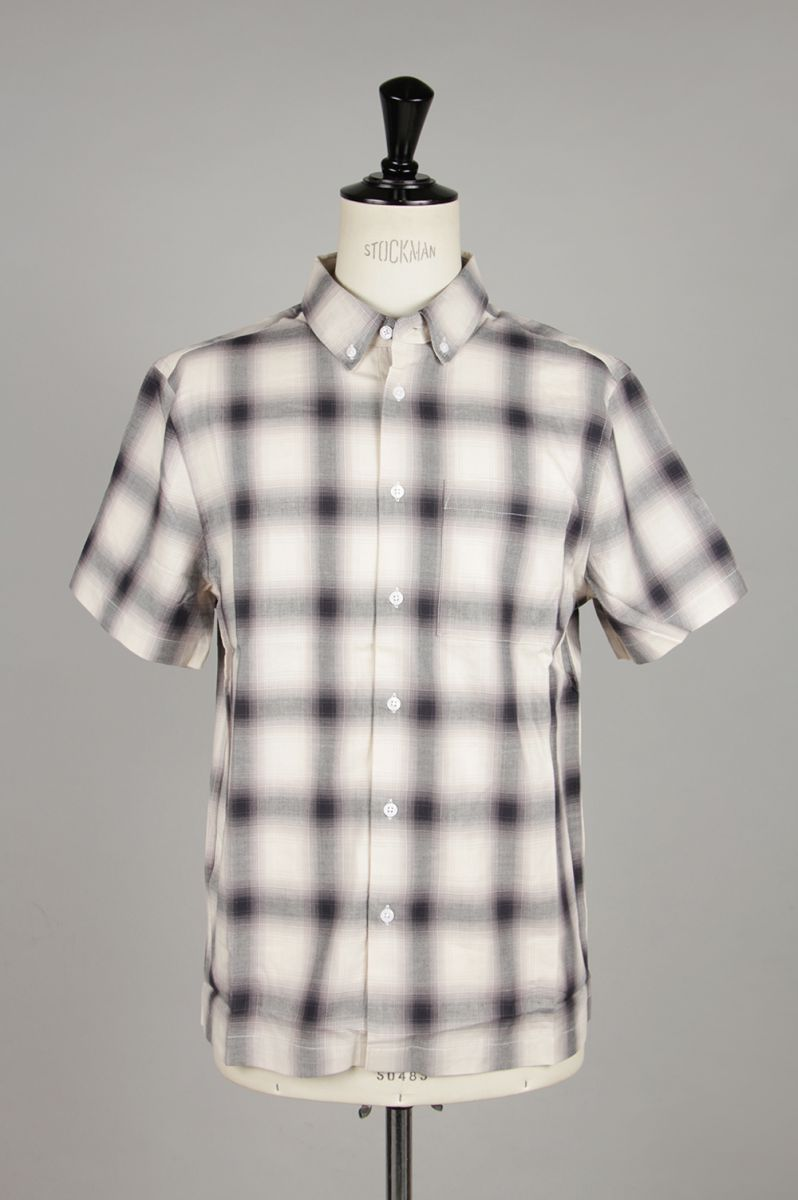 【40%OFF】Bruce Ombre Plaid S/S Shirt (M21930BC01) Saturdays NYC(サタデーズ・ニューヨークシティ)