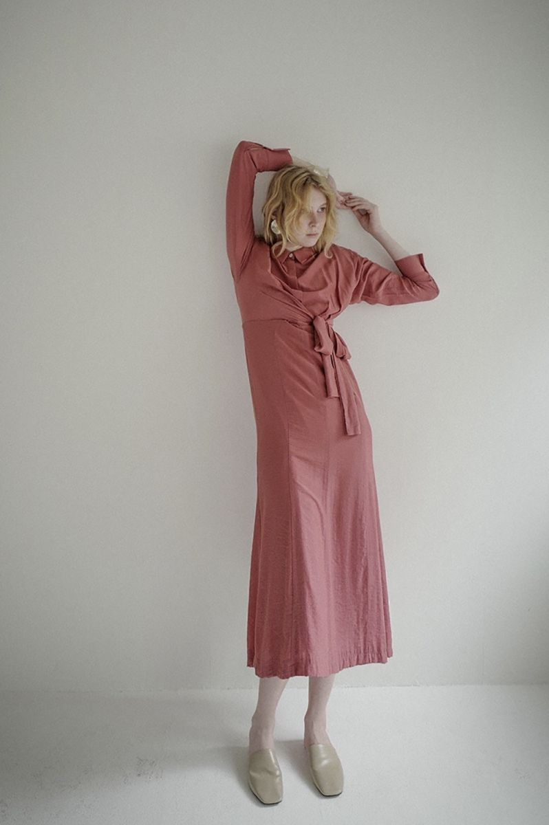 【40%OFF】Waist Ribbon Shirts Onepiece(16112-5011) Clane(クラネ)