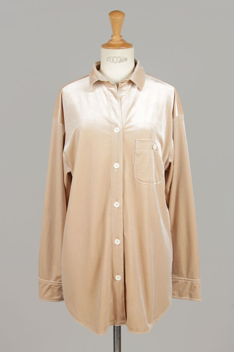 【30%OFF】Rough Velour Shirts -BEIGE (11910407) Todayful(トゥデイフル)