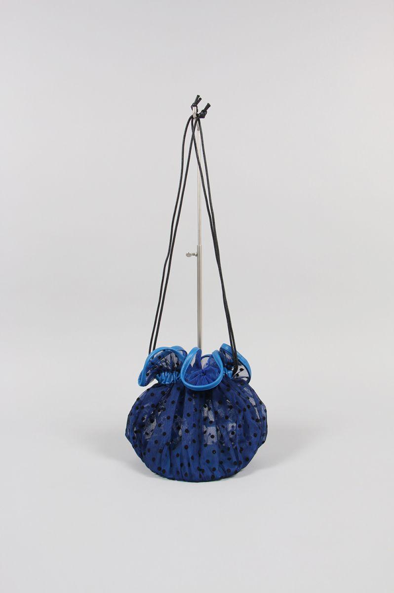 TULLE SHOULDER BAG M -BLUE / MEDIUM DOTS (LD2021) Ludlow(ラドロー)