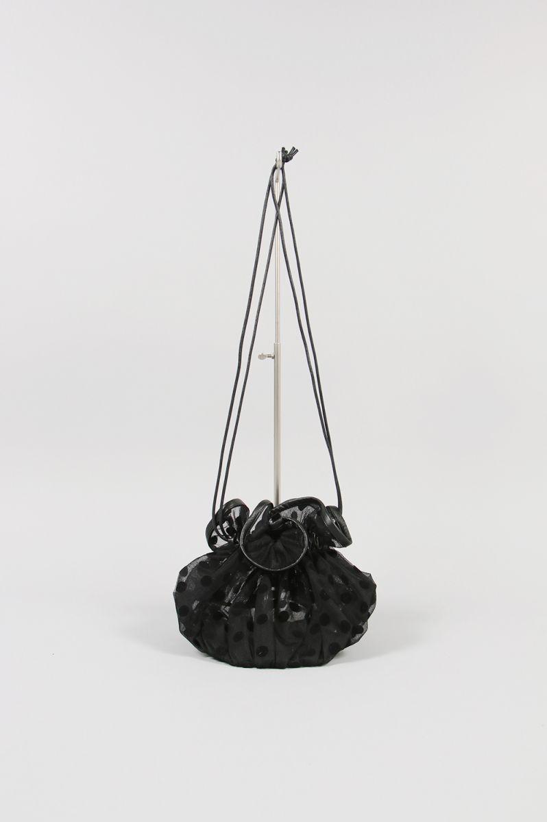 TULLE SHOULDER BAG M -BLACK / LARGE DOTS (LD2021) Ludlow(ラドロー)