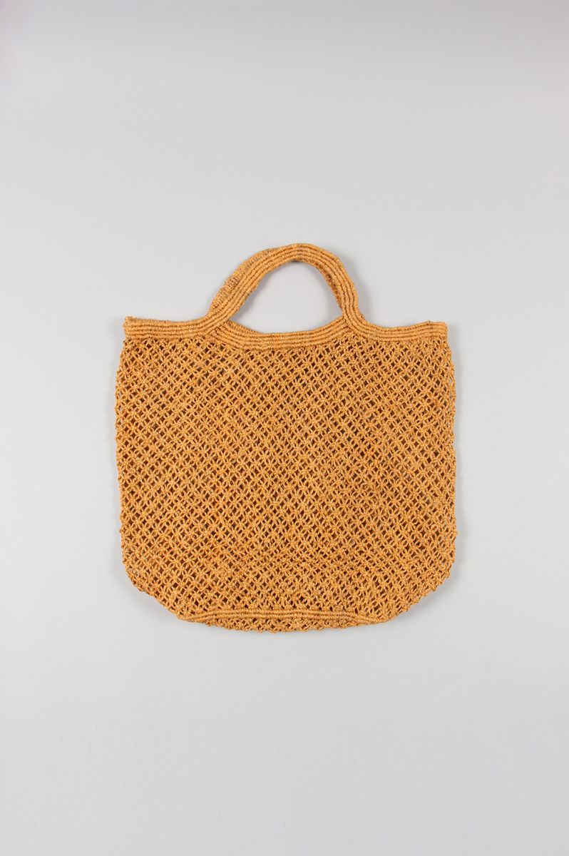 JUTE MACRAME BAG -LARGE -Orange Maison Bengal(メゾン・ベンガル)