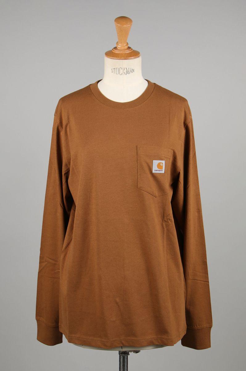 L/S POCKET T-SHIRT-HAMILTON BROWN(I022094) Carhartt WIP -Women-(カーハート・ダブル・アイ・ピー)