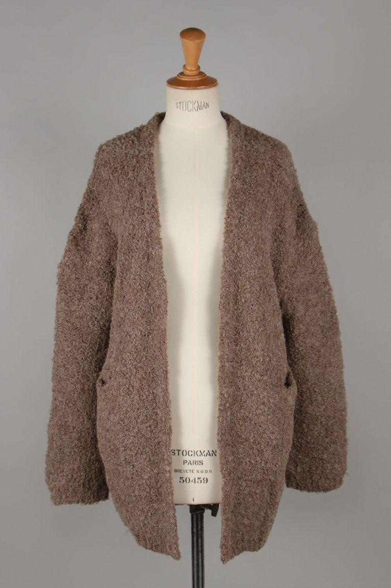 Boucle Knit Cardigan-MOCHA(11920502) Todayful(トゥデイフル)