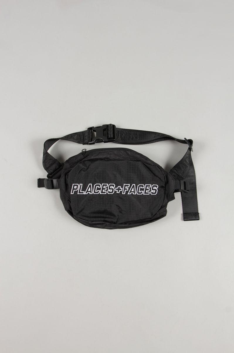 【60%OFF】WAIST BAG/BLACK PLACES+FACES(プレイシズ・プラス・フェイシズ)