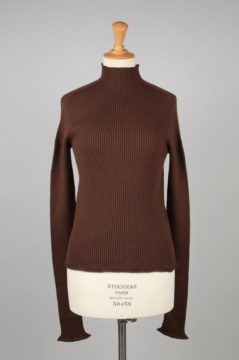 COTTON CASHMERE LONG SLEEVE -Brown (TNH16200-13) The Newhouse(ザ・ニューハウス)