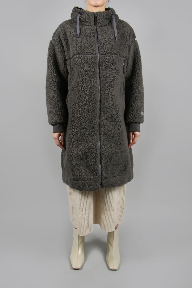 W Blow Stopper(R) FIBERPILE(R) THEROM Coat-MIX CHACOAL(HOE51951) Helly Hansen -Women-(ヘリー・ハンセン)