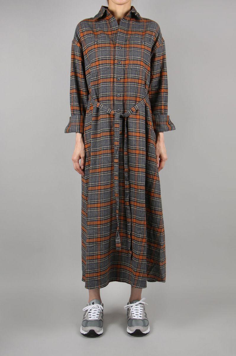 CHECKNEL SHIRT DRESS-CHECK-1 (12RFADRE-01C) Bluebird Boulevard(ブルーバード・ブルバード)