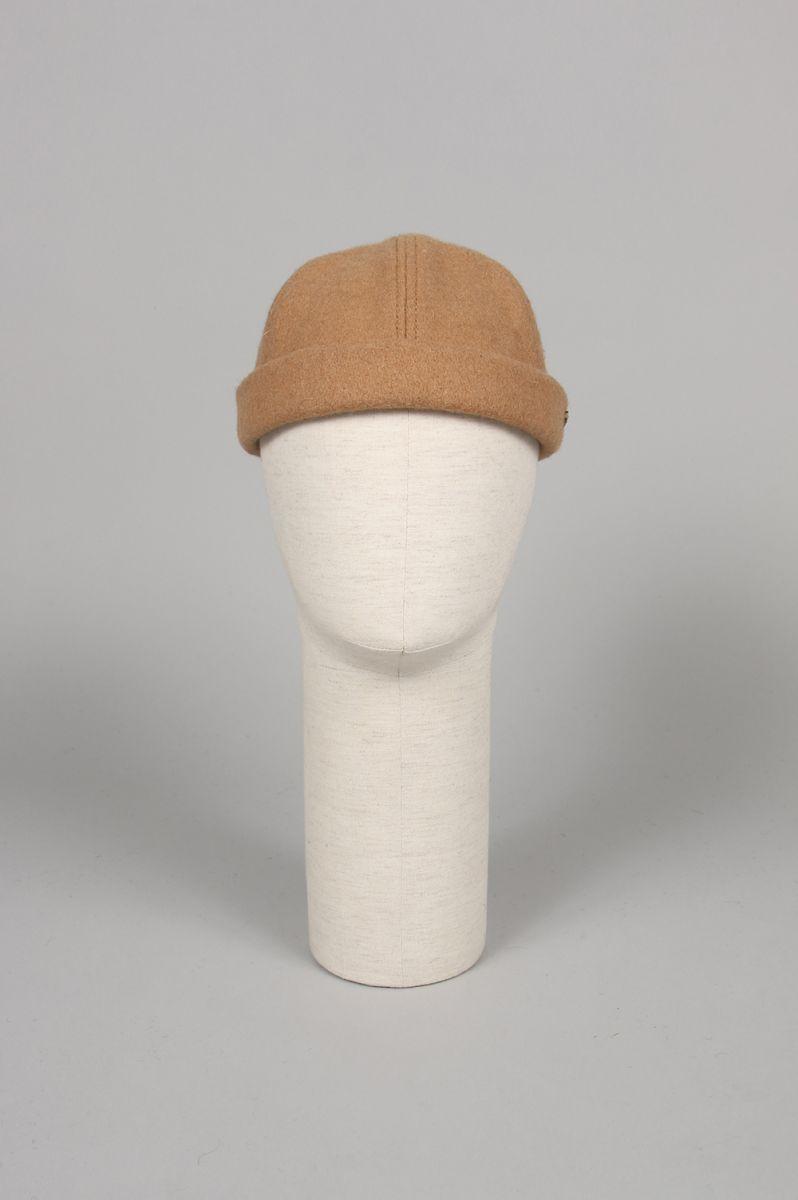 CROWN / CAP 1-011F MELTON WOOL BEANIE - CAMEL (700079379) Import - Men -(インポート)