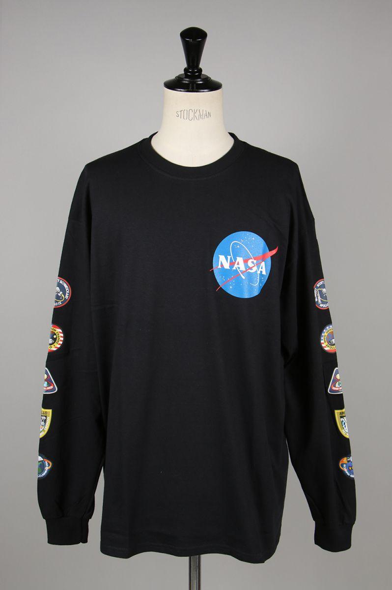 【10%OFF】NASA x LEGENDA L/S Tee -黒(LEC781) Legenda(レジェンダ)