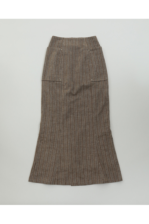 【30%OFF】Jacquard Stripe Skirts-BEIGE(11920812) Todayful(トゥデイフル)