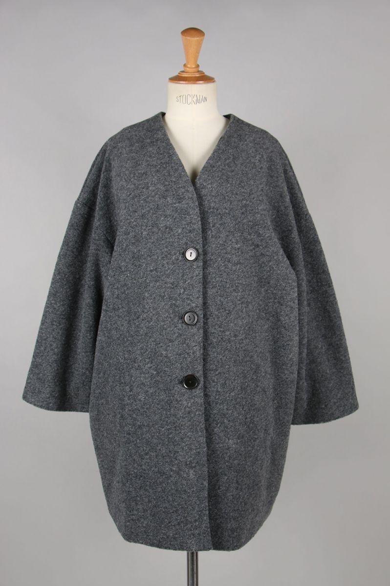 Wool Cocoon Coat-C/GRAY(11920009) Todayful(トゥデイフル)