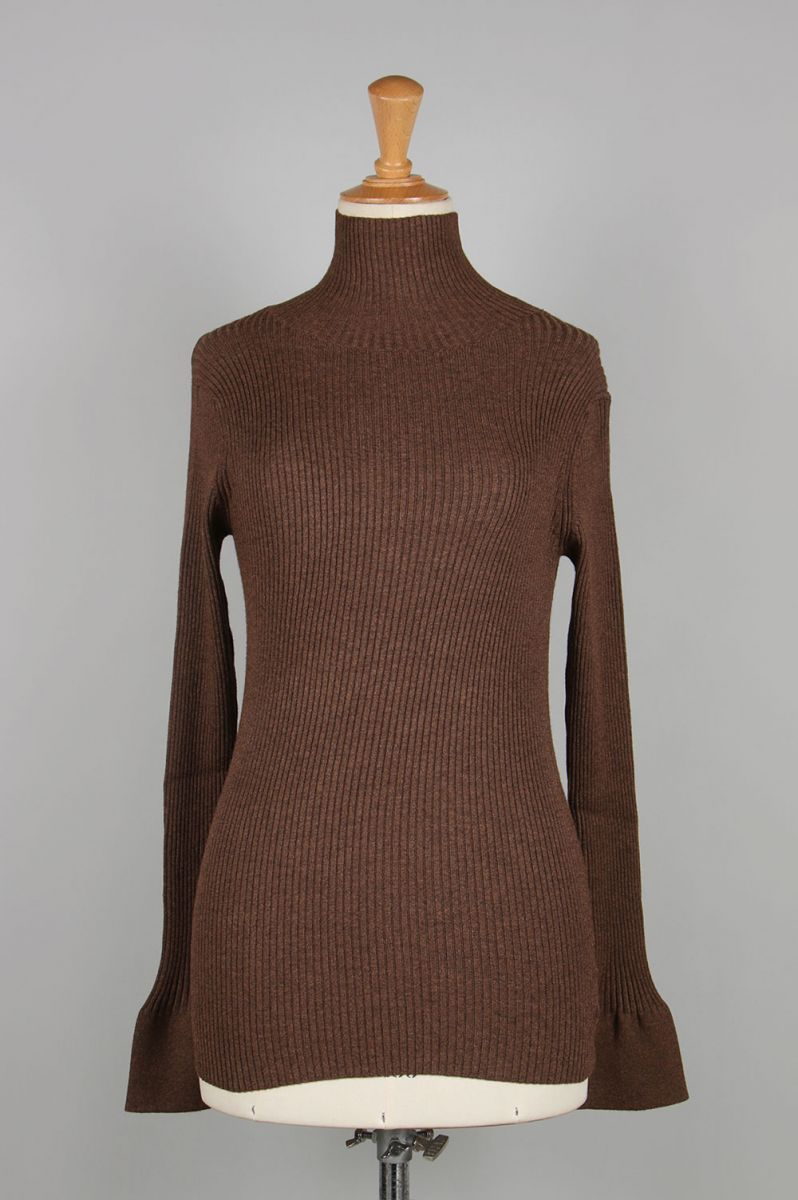 Flarecuffs Rib Knit-BROWN(11920531) Todayful(トゥデイフル)