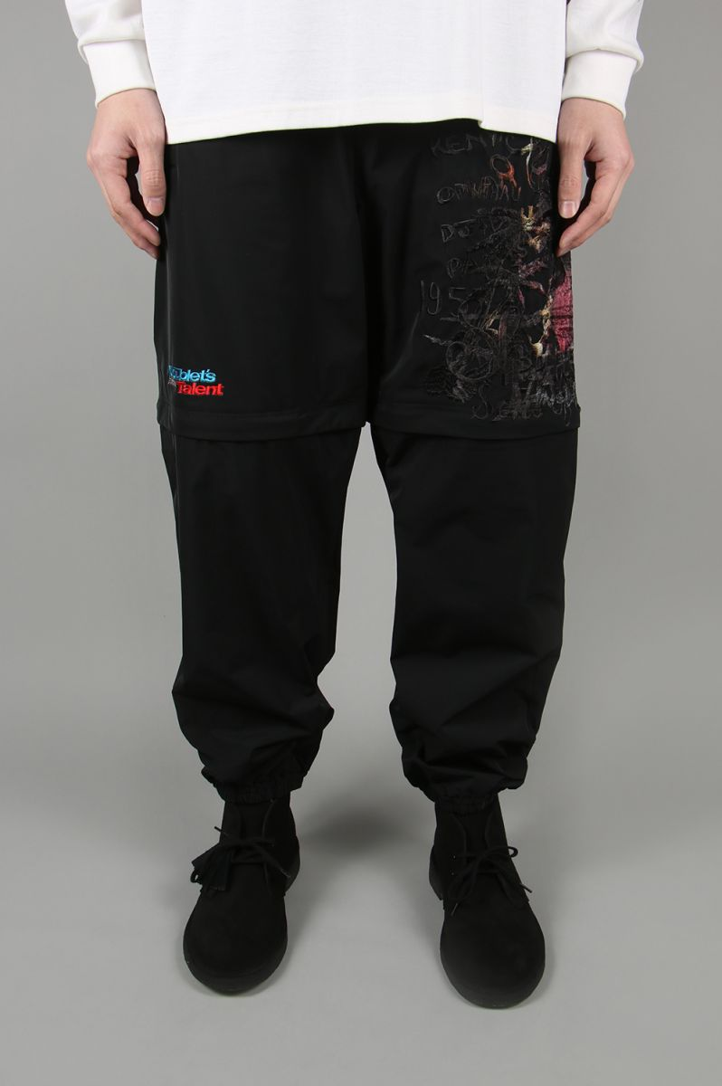 PRINTED CHAOS EMBROIDERY 2WAY PANTS -BLACK- (20SS10PT122) doublet(ダブレット)